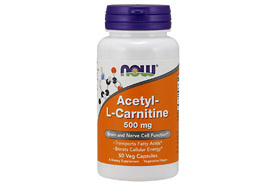 Now Acetyl L-Carnitin 500 мг 50 кап